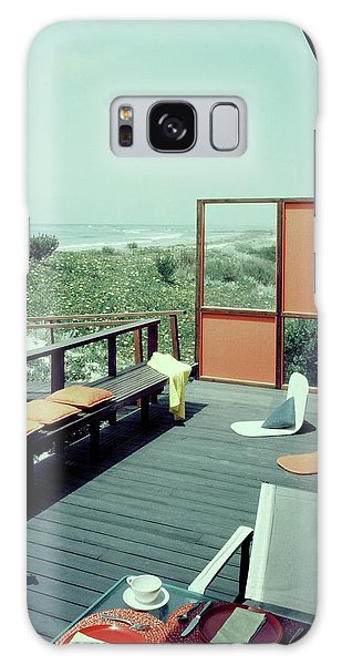 The Deck Of A Beach House Galaxy Case