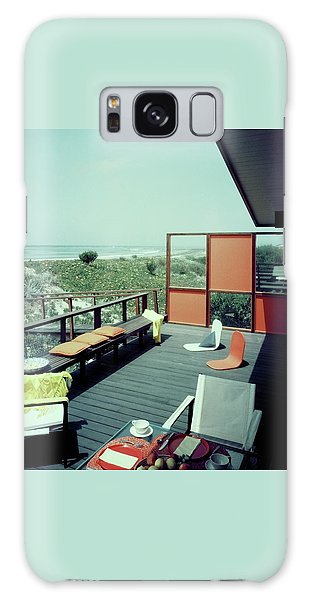 The Deck Of A Beach House Galaxy Case