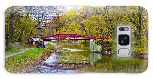 The Delaware Canal Near New Hope Pa In Autumn Galaxy Case