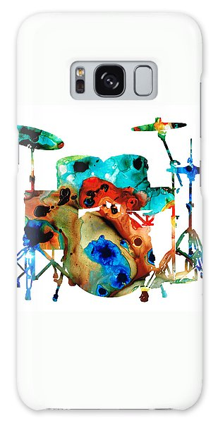 Rock And Roll Galaxy S8 Case - The Drums - Music Art By Sharon Cummings by Sharon Cummings