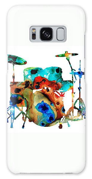 Drum Galaxy Case - The Drums - Music Art By Sharon Cummings by Sharon Cummings
