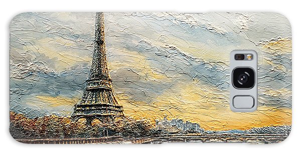 The Eiffel Tower- From The River Seine Galaxy Case by Joey Agbayani