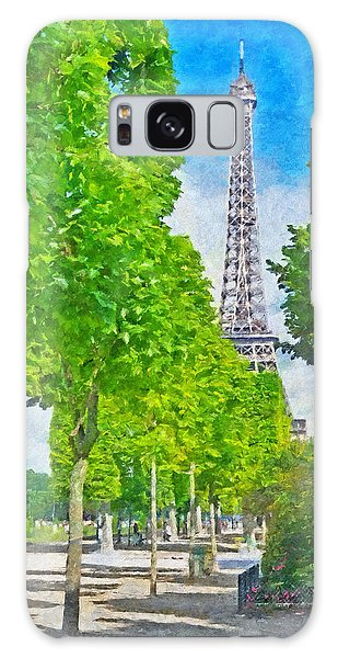 The Eiffel Tower In The Spring Of 2014 Galaxy Case