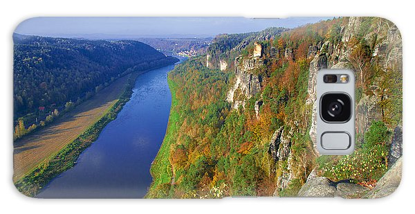 The Elbe Sandstone Mountains Along The Elbe River Galaxy Case