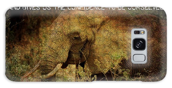 The Elephant - Inner Strength Galaxy Case by Absinthe Art By Michelle LeAnn Scott