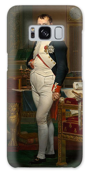 The Emperor Napoleon In His Study At The Tuileries Galaxy Case by Jacques Louis David