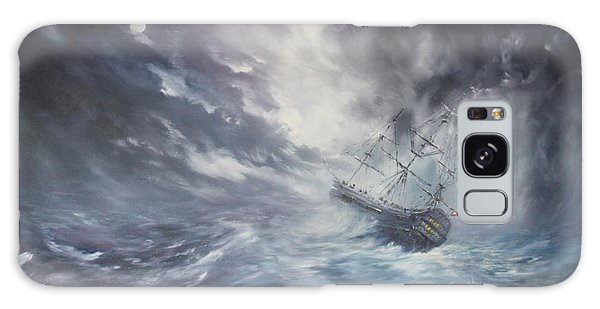 The Endeavour On Stormy Seas Galaxy Case by Jean Walker