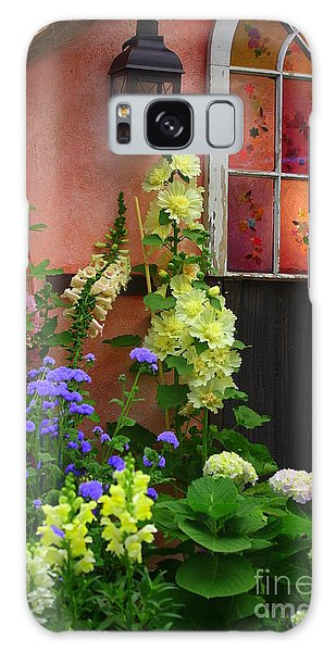 The English Cottage Window Galaxy Case by Dora Sofia Caputo Photographic Art and Design