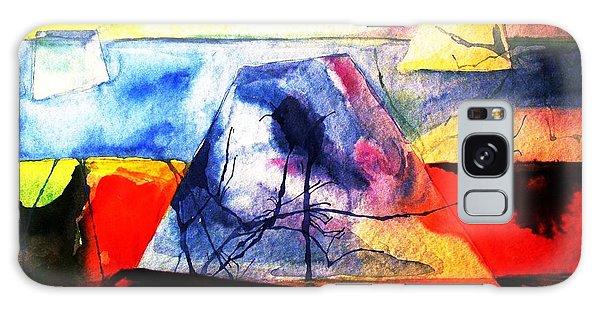 The Fabric Of My Heart Galaxy Case by Hazel Holland
