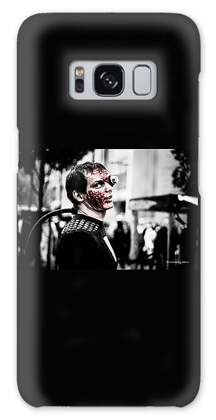 Galaxy Case featuring the photograph The Fake Zombie Robot by Stwayne Keubrick