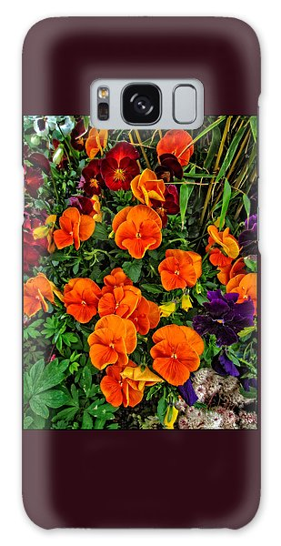 The Fall Pansies Galaxy Case