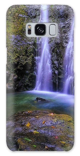 The Falls At Makamakaole Galaxy Case by Hawaii  Fine Art Photography