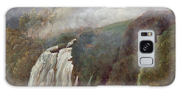Waterfall Galaxy Case - The Falls At Terni by George Augustus Wallis