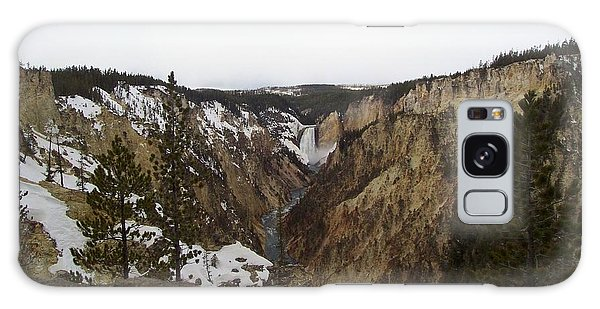 The Falls At Yellowstone Park Galaxy Case