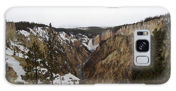 The Falls At Yellowstone Park Galaxy Case