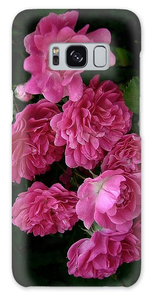 The Fence Roses Galaxy Case by Louise Kumpf