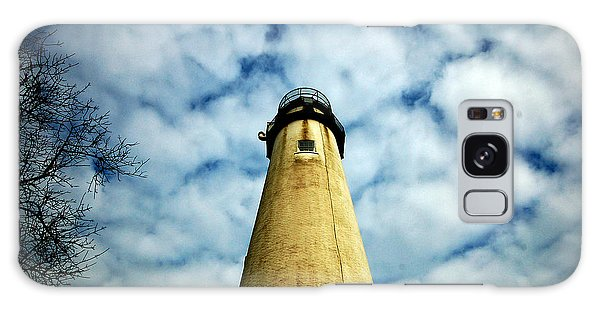 The Fenwick Light And A Mackerel Sky Galaxy Case by Bill Swartwout