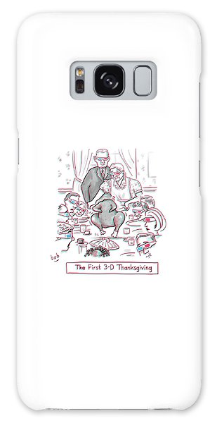 The First 3-d Thanksgiving.  A Turkey Is Dancing Galaxy Case