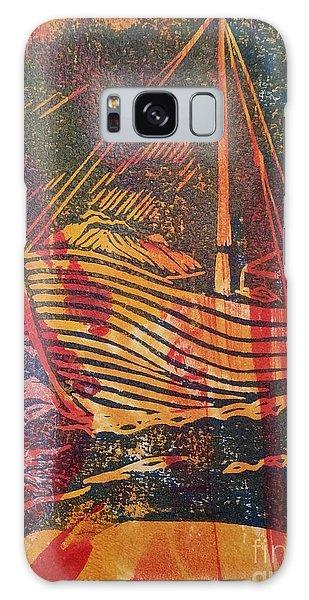 The Fishing Boat Galaxy Case by Cynthia Lagoudakis