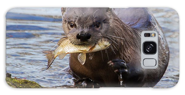 Otter Galaxy Case - The Fishing Is Good by Angie Vogel