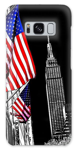 Empire State Building Galaxy S8 Case - The Flag That Built An Empire by Az Jackson