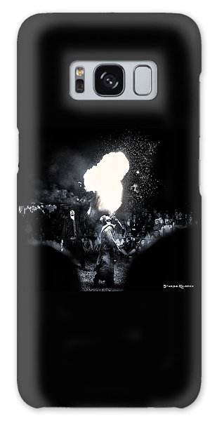 Galaxy Case featuring the photograph The Flare Thrower by Stwayne Keubrick