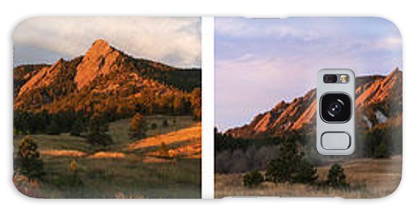 The Flatirons - Four Seasons Panorama Galaxy Case by Aaron Spong
