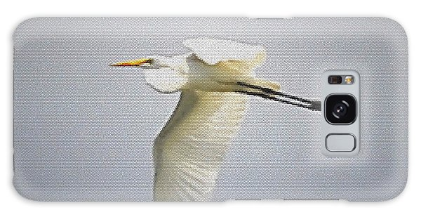 The Flight Of The Great Egret With The Stained Glass Look Galaxy Case