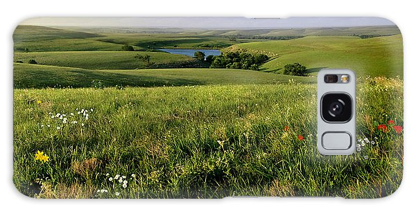 The Kansas Flint Hills From Rosalia Ranch Galaxy Case by Rod Seel