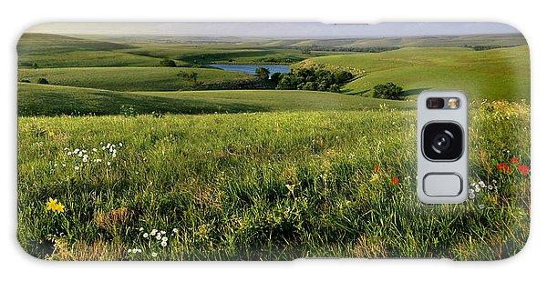 The Kansas Flint Hills From Rosalia Ranch Galaxy Case