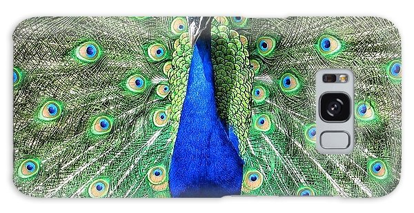The Flirty Peacock Galaxy Case by Nikki McInnes