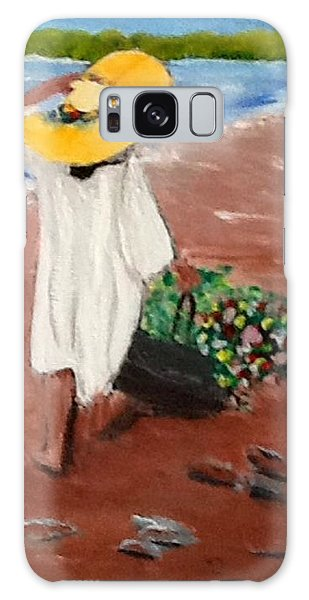 The Flower Girl Galaxy Case by Catherine Swerediuk