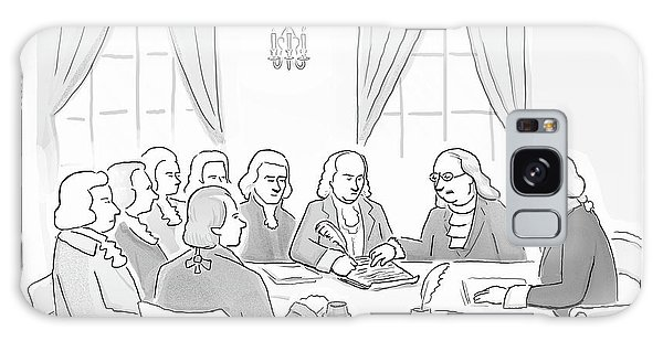 The Founding Fathers Drafting The Constitution Galaxy S8 Case