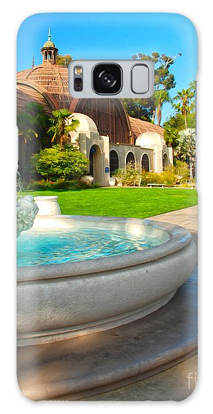 Botanical Building And Fountain At Balboa Park Galaxy Case by Claudia Ellis