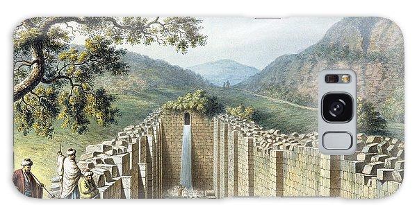 Waterfall Galaxy Case - The Fountain Of Siloah, Jerusalem, Pub by Luigi Mayer