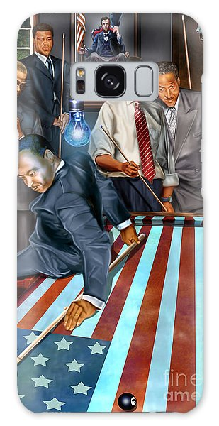 Abraham Lincoln Galaxy S8 Case - The Game Changers And Table Runners by Reggie Duffie