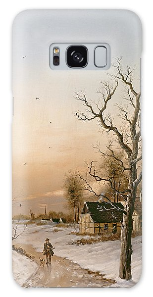 Cold Day Galaxy Case - The Gamekeeper Going Home by F Muller