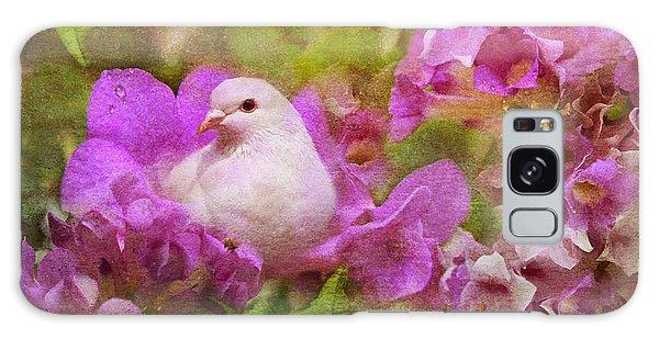 The Garden Of White Dove Galaxy Case