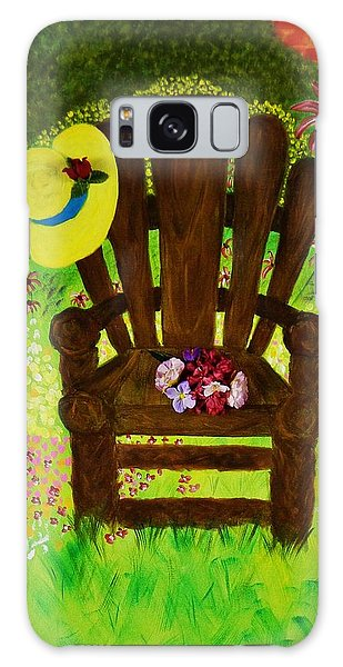 The Gardener's Chair Galaxy Case by Celeste Manning