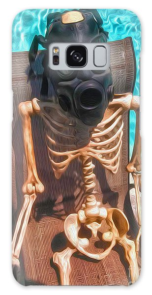 The Gas Mask Skeleton Galaxy Case