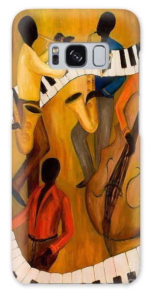 Trumpet Galaxy S8 Case - The Get-down Jazz Quintet by Larry Martin
