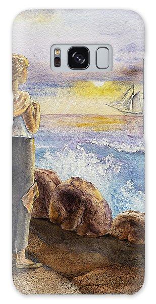 The Girl And The Ocean Galaxy Case by Irina Sztukowski