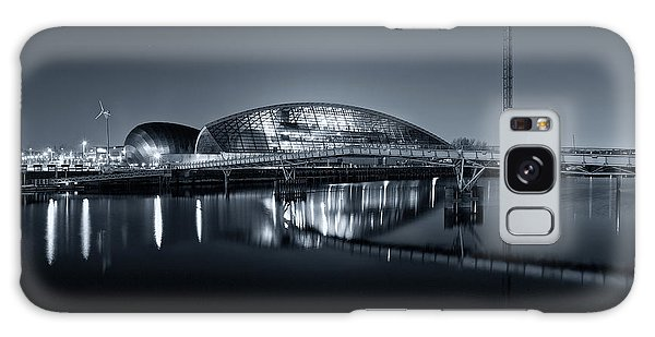 The Glasgow Science Centre In Black And White Galaxy Case