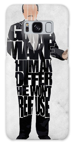 The Godfather Inspired Don Vito Corleone Typography Artwork Galaxy Case