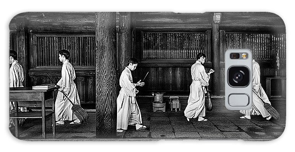 Temple Galaxy Case - The Going And The Being Back Of A Monk In The Sweeping Of The Temple (tokio) by Joxe Inazio Kuesta