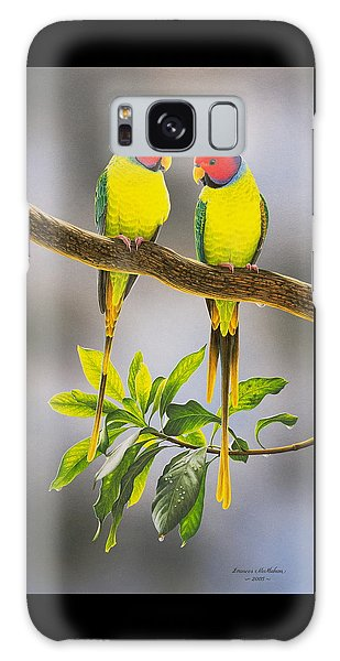 The Gorgeous Guys - Plum-headed Parakeets Galaxy Case by Frances McMahon