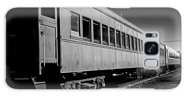 Galaxy Case featuring the photograph The Grand Canyon Express 1 Black And White by James Sage