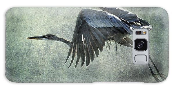 The Great Blue Heron  Galaxy Case