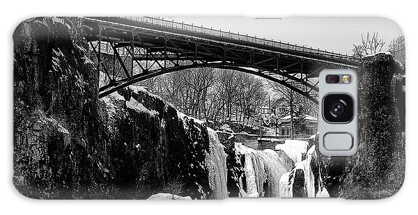 The Great Falls Of Paterson In Black And White Galaxy Case