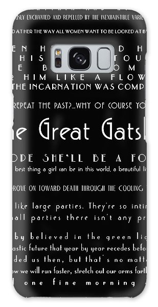 The Great Gatsby Quotes Galaxy Case